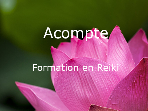 Acompte «Formation Reiki»
