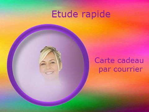 Carte Cadeau Par Courrier «Étude Rapide» Photo Aura